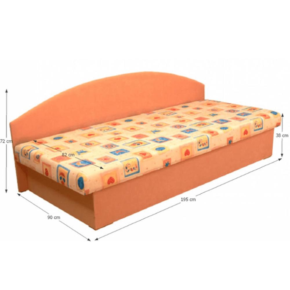 Dívány rakodótérrel, szendvics matraccal, 90x195, EDVIN 03