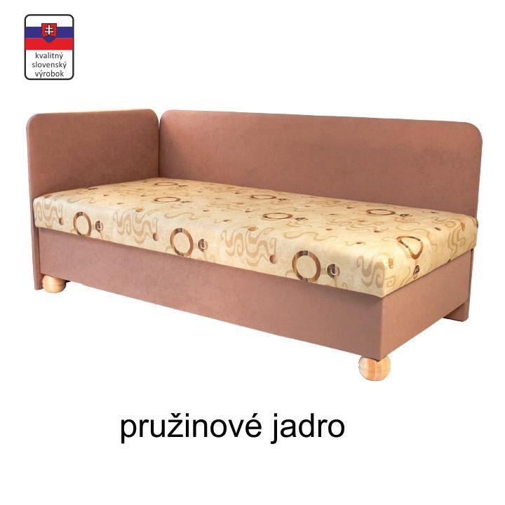 Váľanda s úložným priestorom, pružinová, ľavá, 90x195 cm, SIMBA