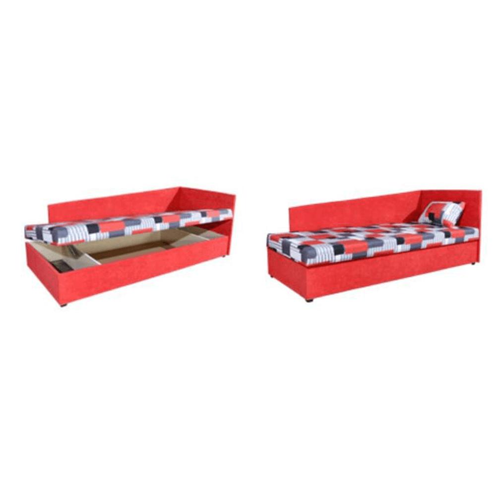 Dívány rakodótérrel, szendvics matraccal, balos, 90x200, EDVIN 4 LUX