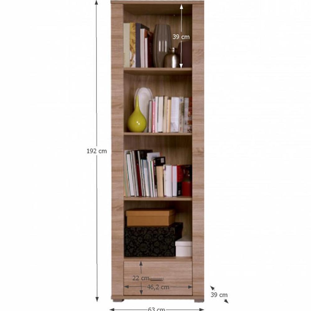 Könyvespolc typ 6, sonoma tölgy, GRAND