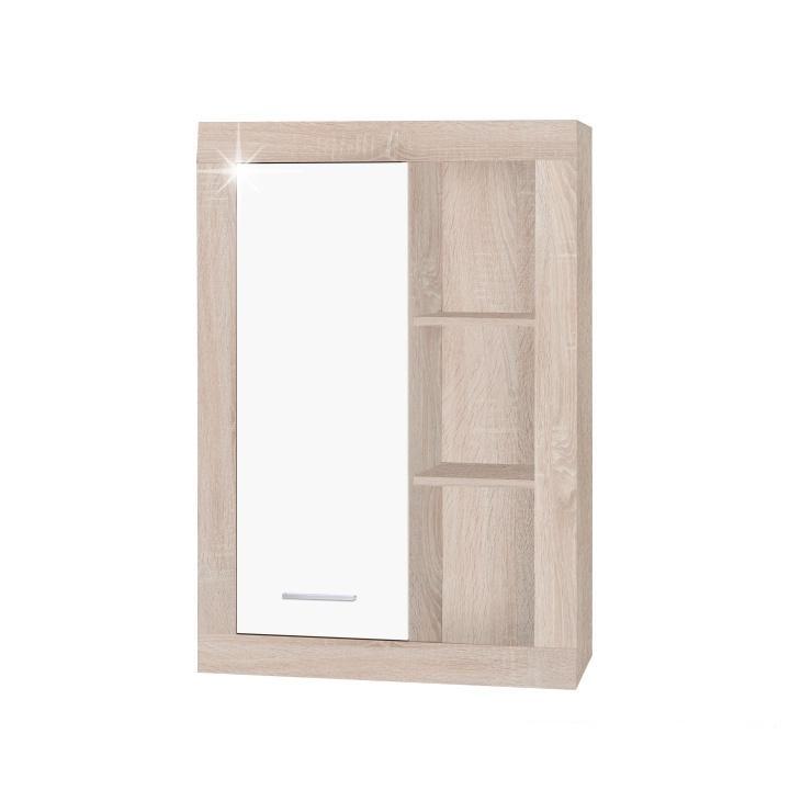 Závesná skrinka typ 4, dub sonoma/biely lesk, STILO, na bielom pozadí