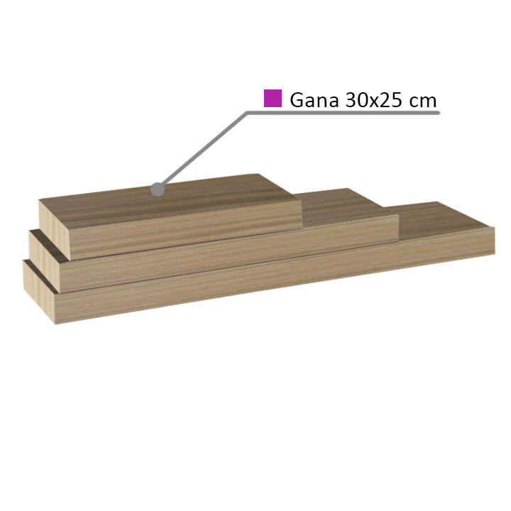 Polc, tölgyfa homokos, 30x25, GANA FY 11044-5 30