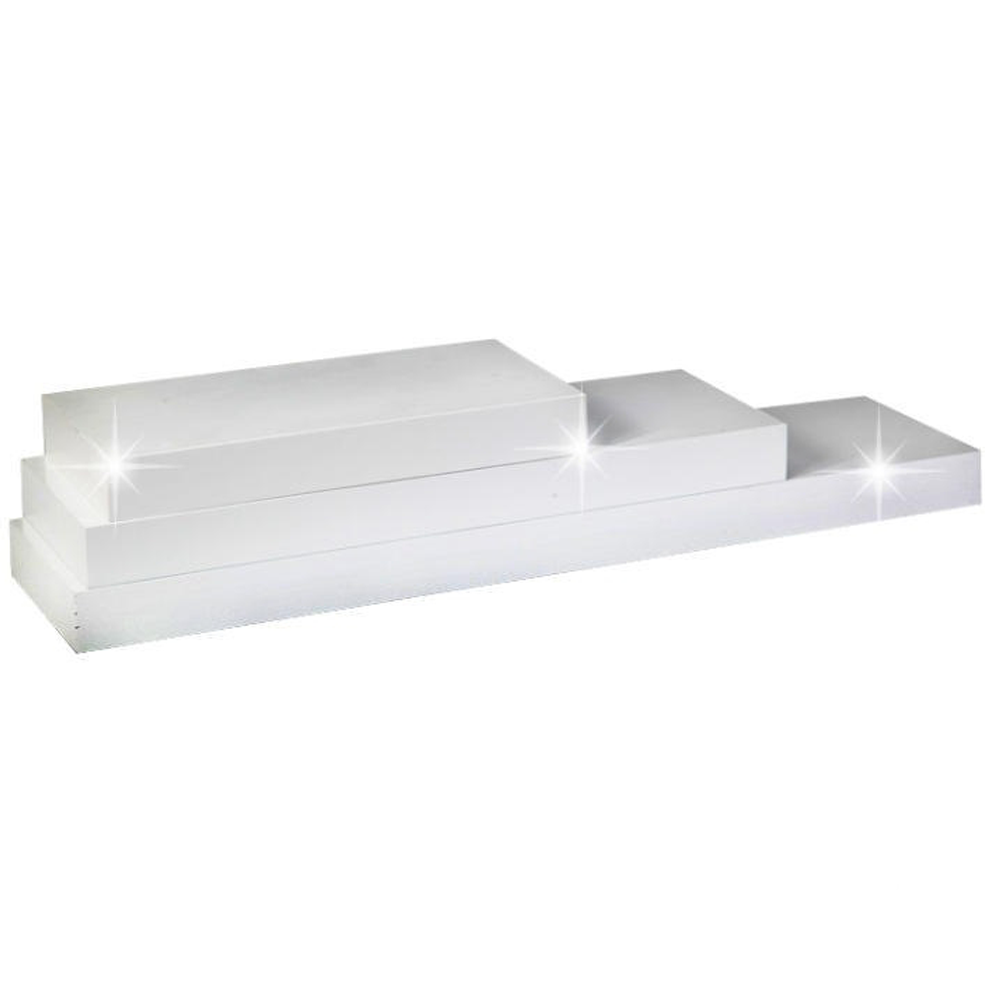 Polc, fehér fényes, 120x25, GANA FY 11044-1