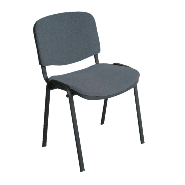 Kancelárska stolička, sivá, na bielom pozadí, ISO NEW