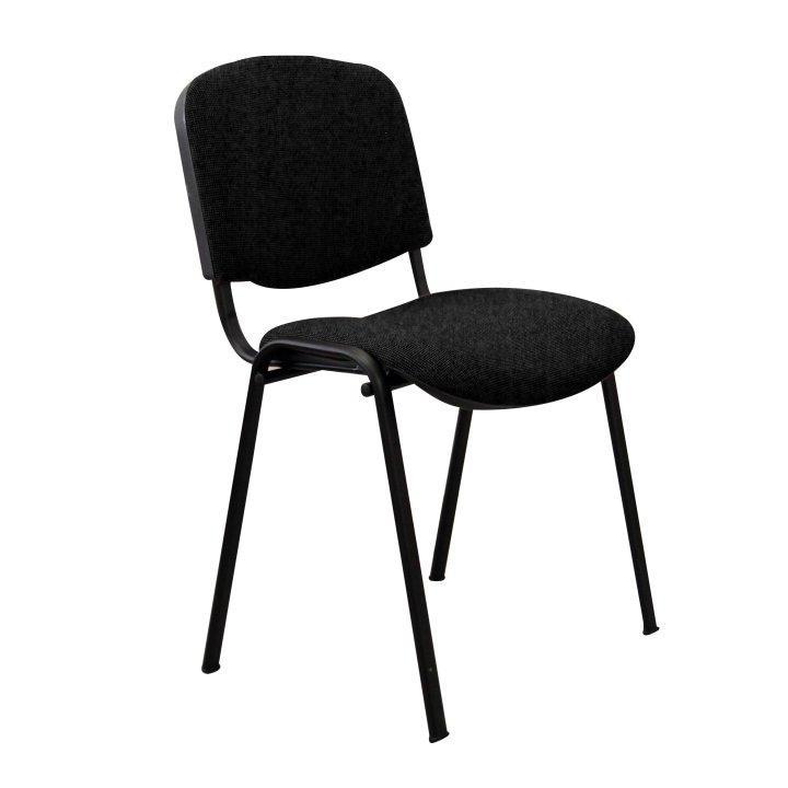 Kancelárska stolička, čierna, na bielom pozadí, ISO NEW