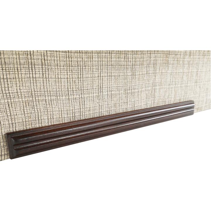 3-sed zo zostavy 3+1+1 v látke béžová/tmavý orech, METY, detail na drevo na spodnej časťi