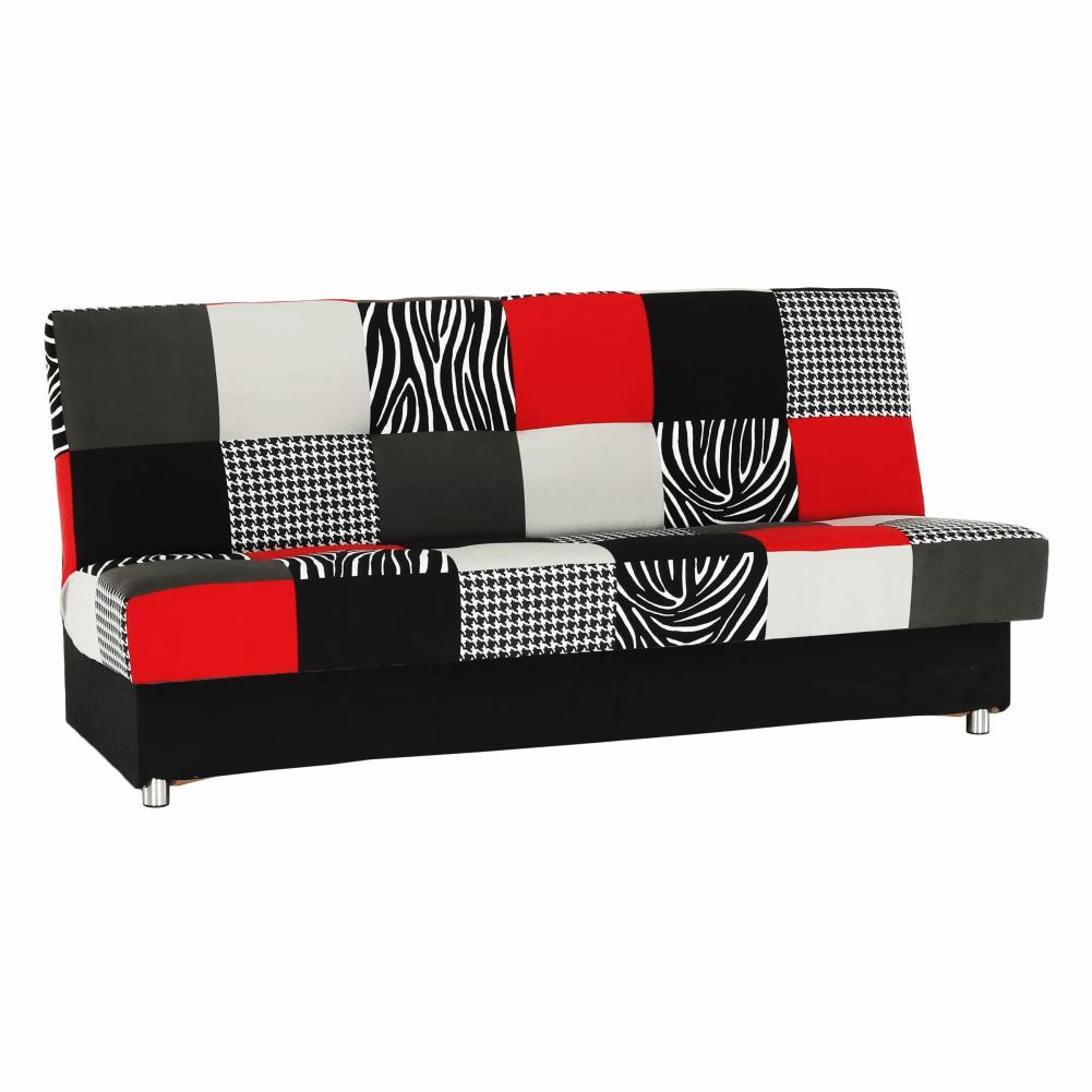 Colţar, textil roşu/gri/negru, ALABAMA