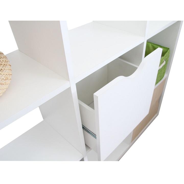 Regál, biela, TOFI BOX NEW, na bielom pozadí