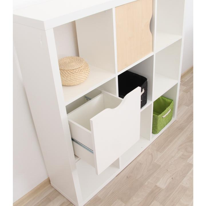 Regál, biela, TOFI BOX NEW, interiérová fotka