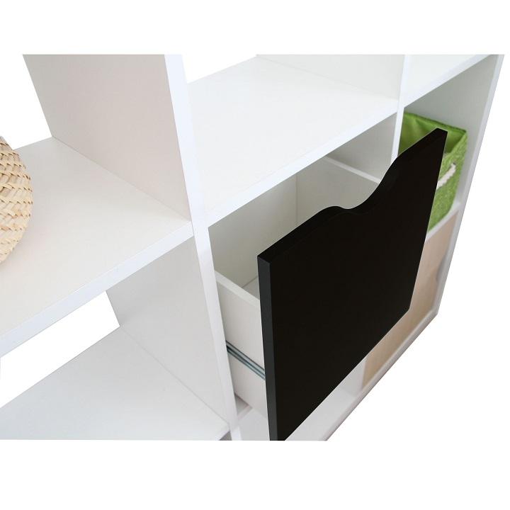 Regál, čierna, TOFI BOX NEW