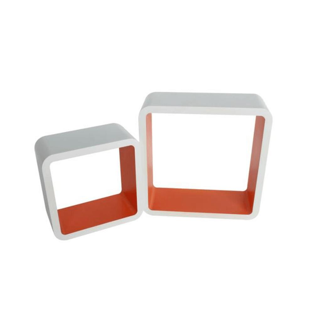 Polc, 2db, fehér-narancssárga, FIDO FY 11058