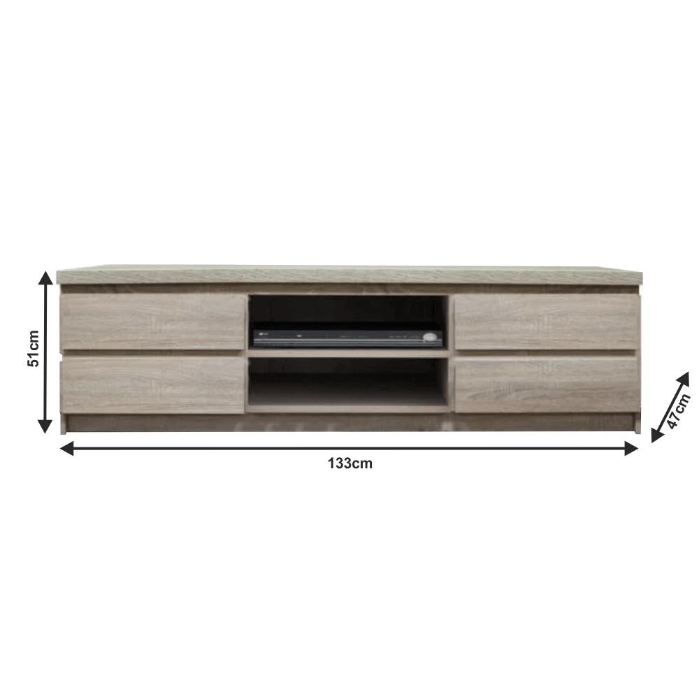 Măsuţă RTV/dulap, stejar sonoma, PANAMA Typ 06