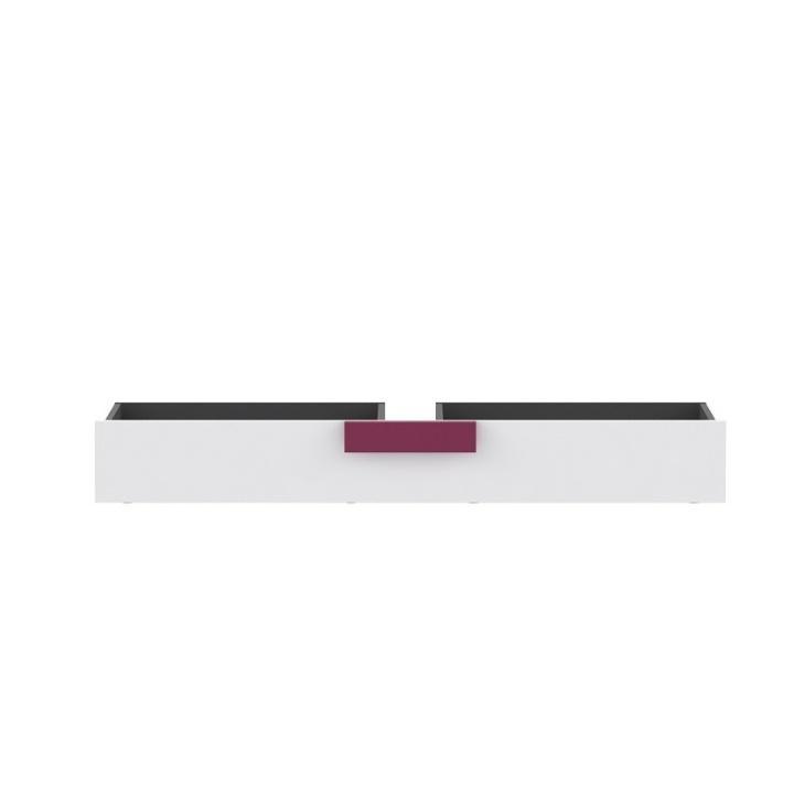 Ladă pentru depozitare sub pat, gri/albă/mov, LOBETE 83