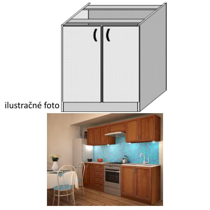 Kuchynská skrinka, spodná policová, orech, LENKA DZ-80