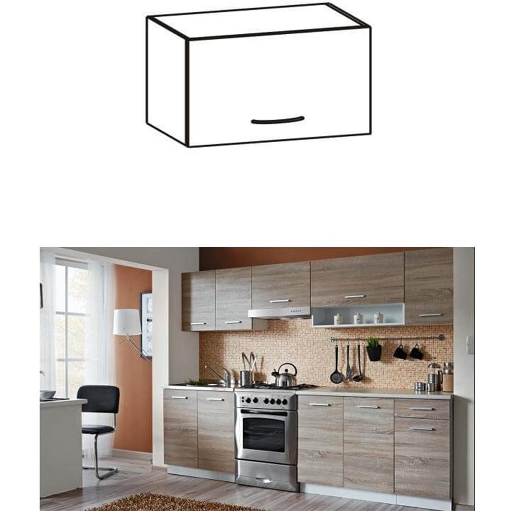 Dulap de bucătărie, superior, stejar sonoma/alb, CYRA NEW G0-50