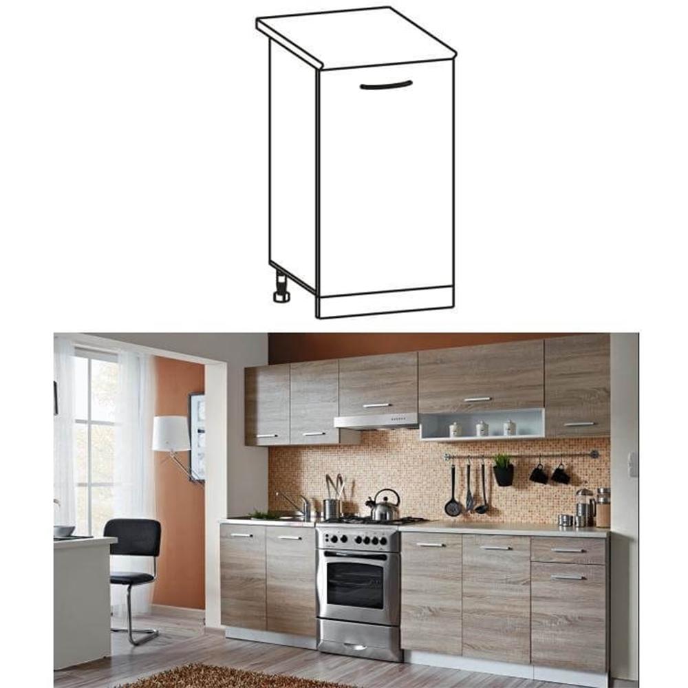 Dulap inferior de bucătărie, stejar sonoma/alb, CYRA NEW D 30