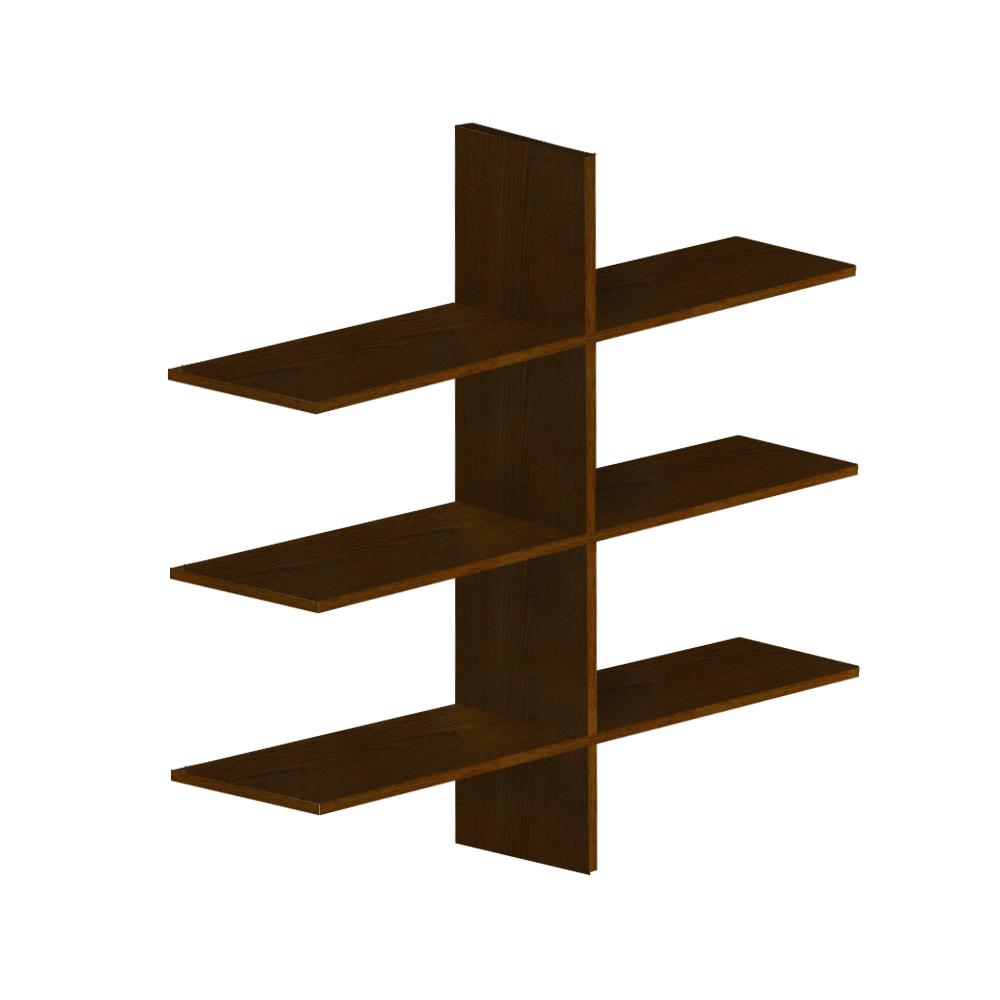 Bútor  állvány polcokkal, csokoládé, FLAMENGO