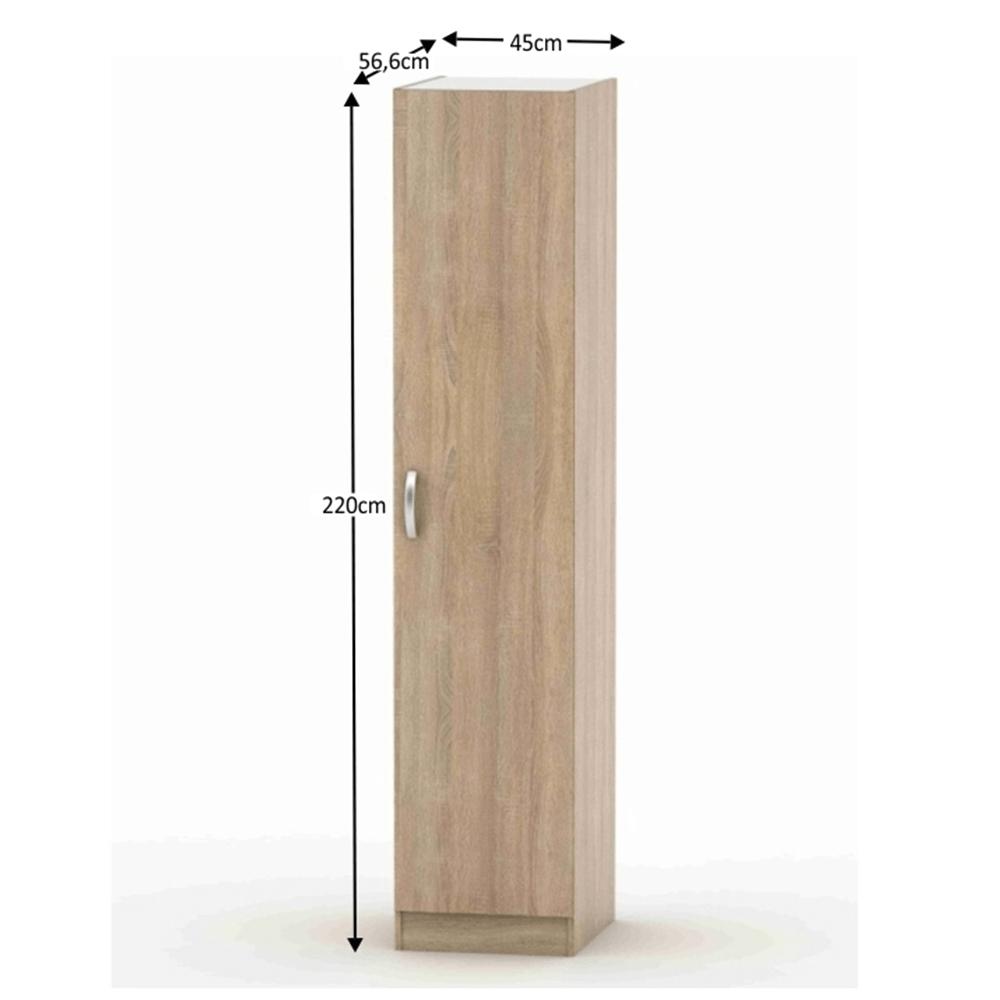 1-dverová skriňa, dub sonoma, BETTY 2 BE02-006-00