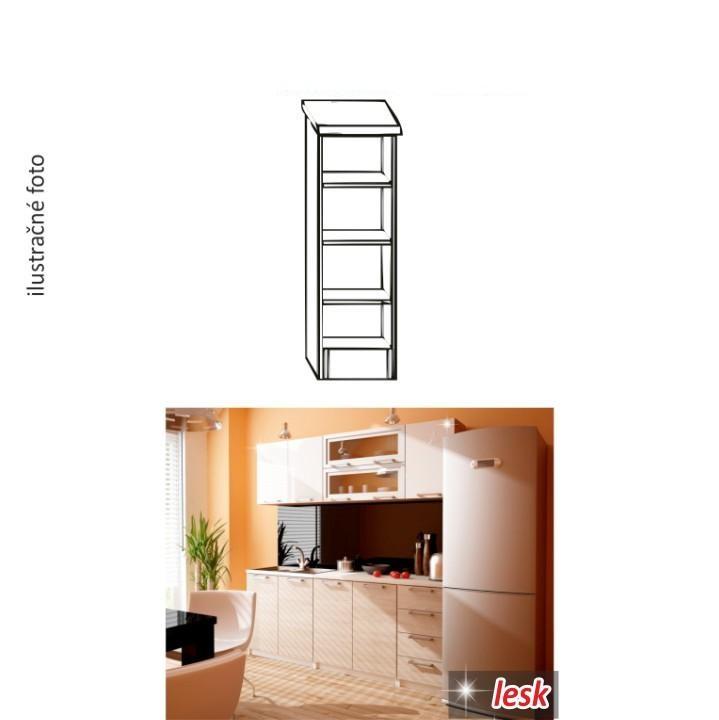 Kuchynská policová skrinka, biela, ITA NEW D3P-20