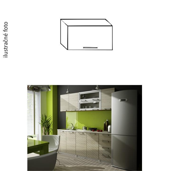 Kuchynská skrinka, dub sonoma, na bielom pozadí, IRYS NEW GO-60
