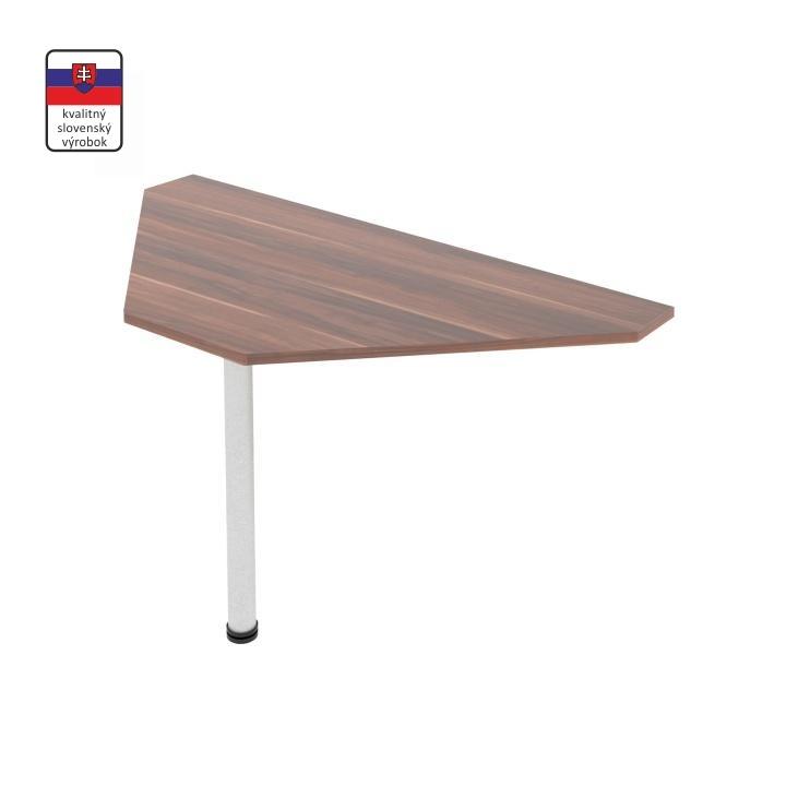 Rohový stolík, slivka/kov, na bielom pozadí, JOHAN 11-JH211