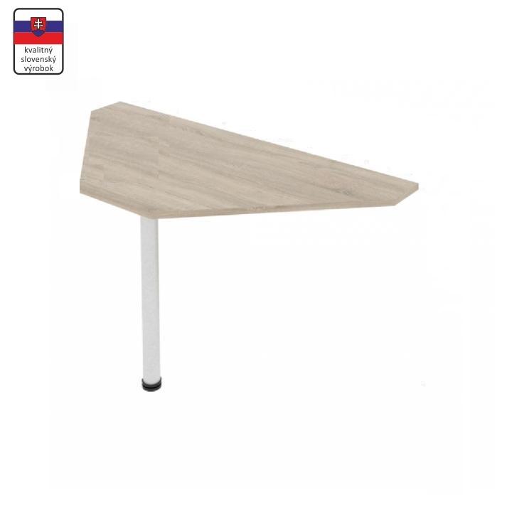 Rohový stolík, dub sonoma/kov, na bielom pozadí, JOHAN 11