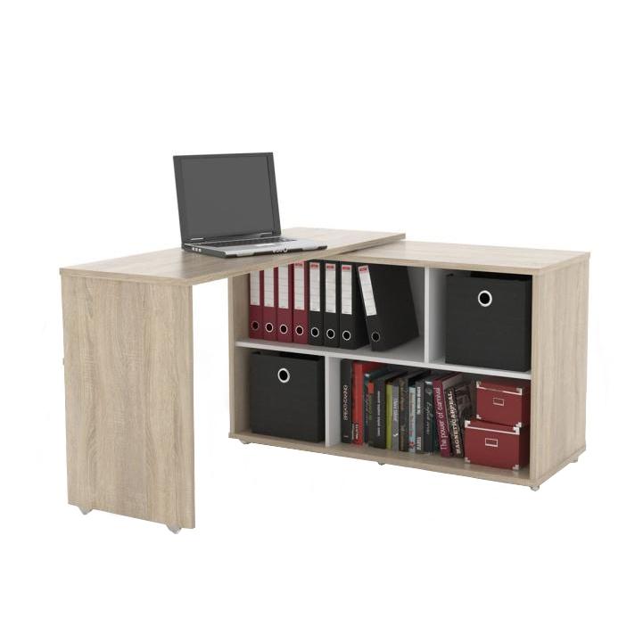 Rozkladací PC stôl, dub sonoma, ASTON NU