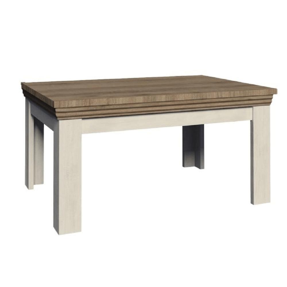 Étkezőasztal, széthúzható, északi lucfenyő / vad tölgyfa, ROYAL ST