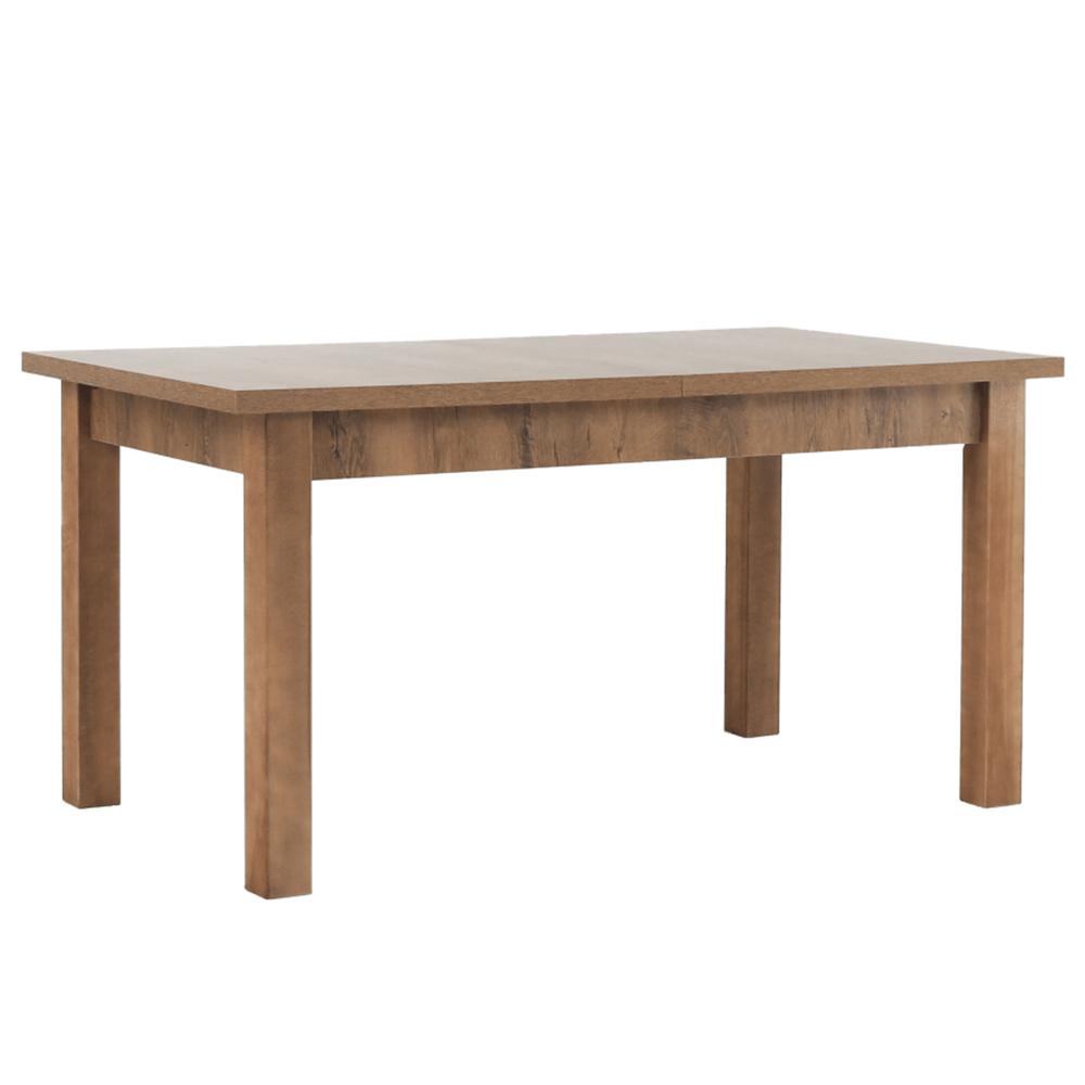 Széthúzható ebédlőasztal, tölgyfa lefkas, MONTANA STW