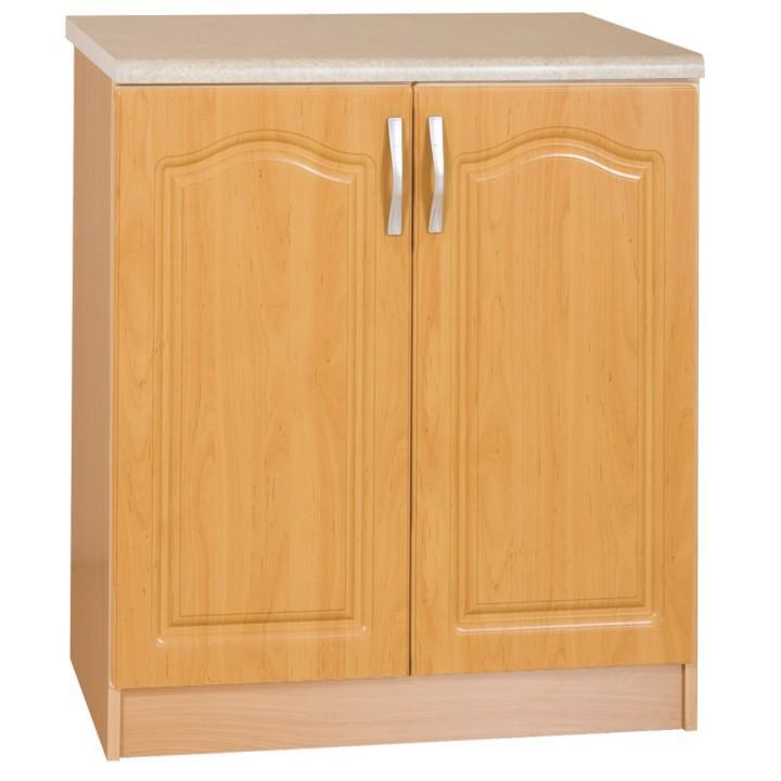 Kuchynská skrinka, spodná, jelša, na bielom pozadí, LORA MDF S60