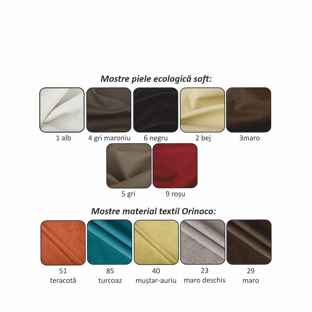 Colţar, material textil melir gri deschis, model stânga, BUTON P
