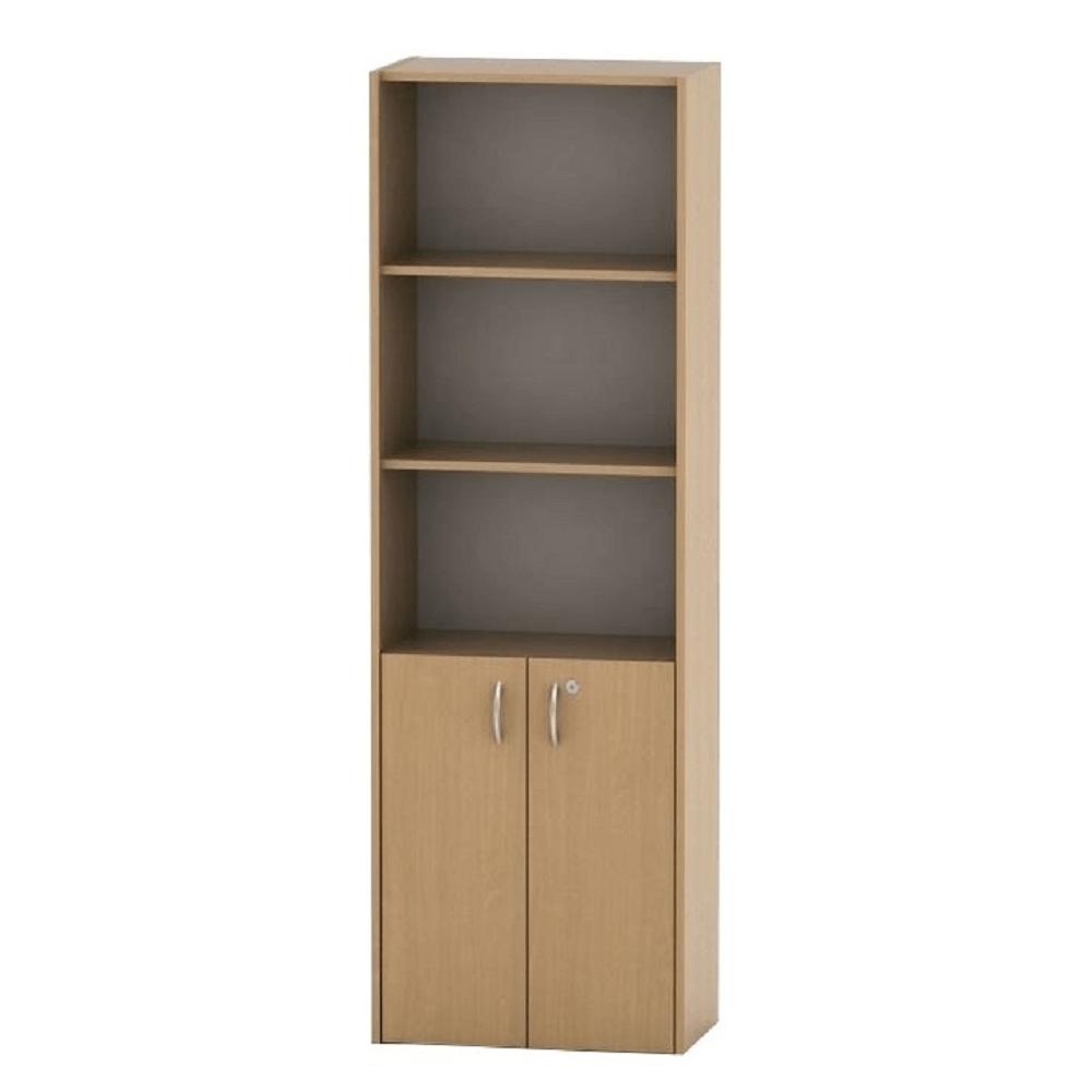 Irodai szekrény lakattal, bükk, TEMPO ASISTENT NEW 002