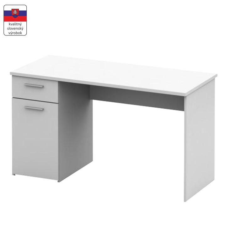 Písací stôl, biela, DTD laminovaná,  EGON