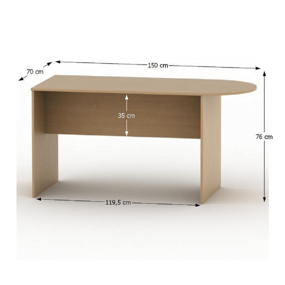 Tárgyalóasztal ívvel 150, bükk, TEMPO ASISTENT NEW 022