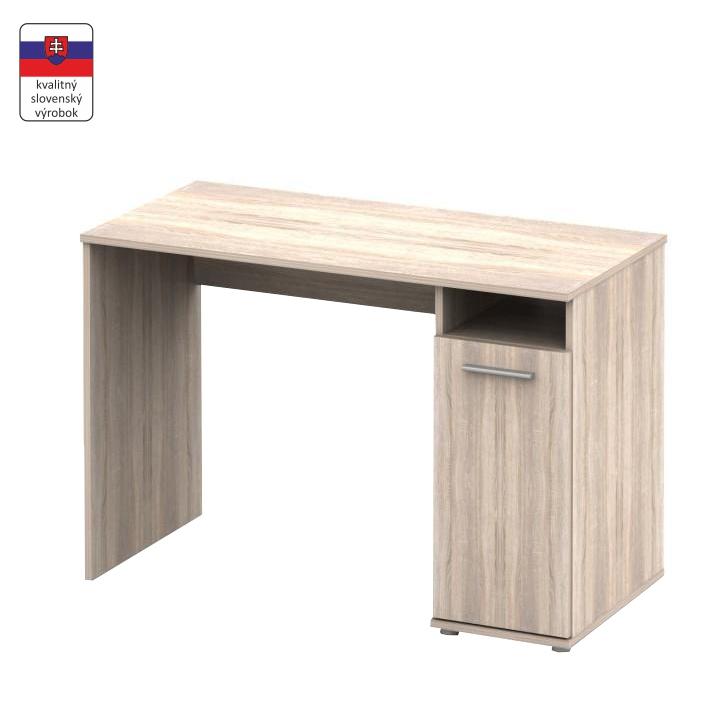 PC stôl , dub sonoma, NOKO-SINGA 21, na bielom pozadí