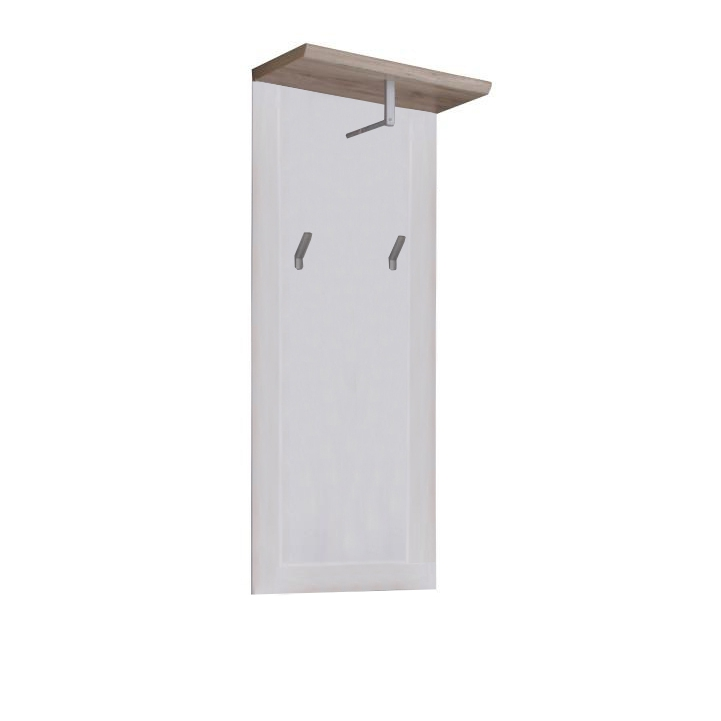 Vešiakový panel, biela/san remo, PROVENSAL, na bielom pozadí