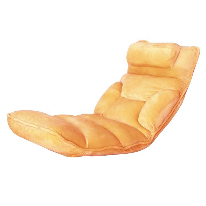 Relaxačné kreslo, látka oranžová, na bielom pozadí, LOTA