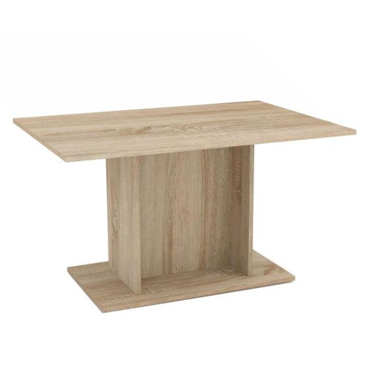 Jedálenský stôl, dub sonoma, MODERN, na bielom pozadí