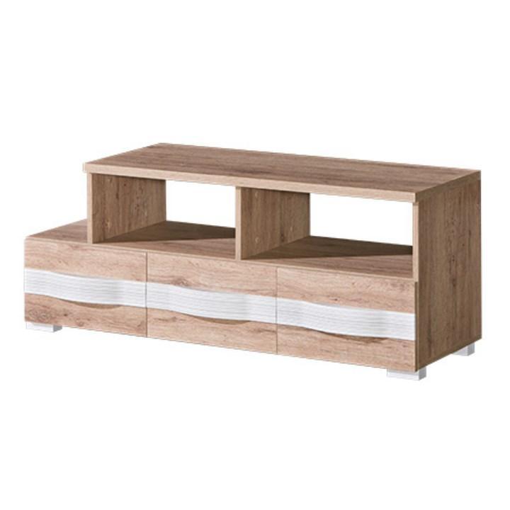 TV stolík/skrinka, san reno / biela, ROVIN R - 09