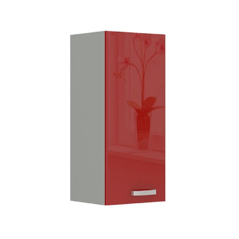 Skrinka horná, červený vysoký lesk, PRADO 30 G-72
