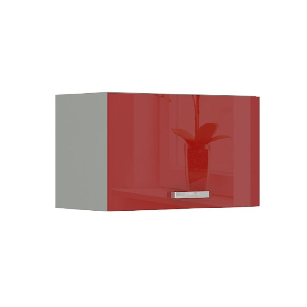 Skrinka horná, červený vysoký lesk, PRADO 60 OK-40