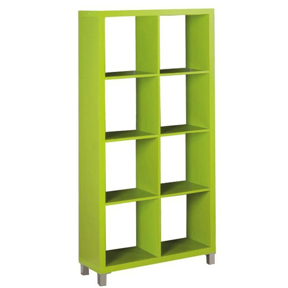 Könyvespolc, zöld, TOFI 3 NEW