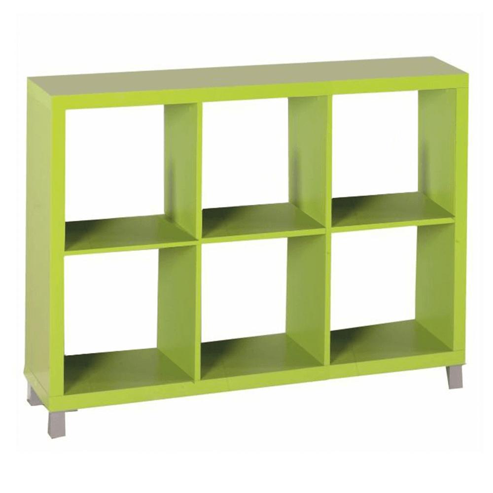 Könyvespolc, zöld, TOFI 4 NEW
