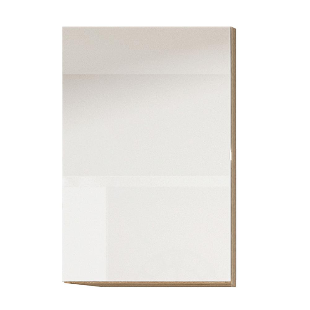 Dulap superior cu uşă verticală, alb super luciu HG, dreapta, LINE ALB