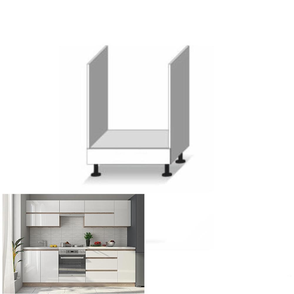 Tűzhely beépítő alsószekrény, fehér magas fényű HG, LINE