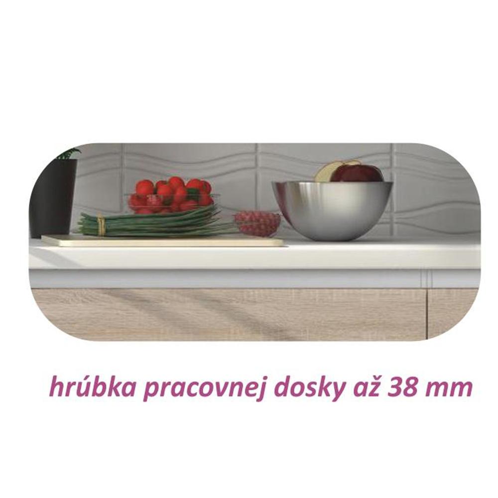 Dolná skrinka D 80, dub sonoma/biela , LINE
