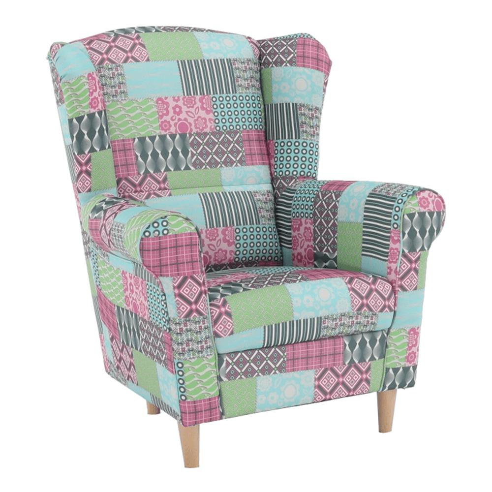 Fotoliu, material textil în stilul patchwork, CHARLOT