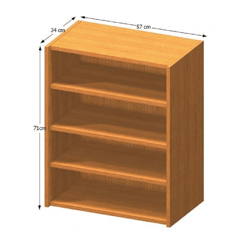 Nízka policová skrinka, čerešňa, TEMPO ASISTENT NEW 013