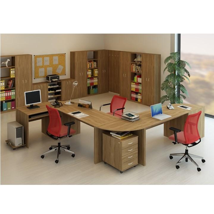 Písací stôl, bardolino tmavé, TEMPO ASISTENT NEW 021 PI, ilustračná fotka