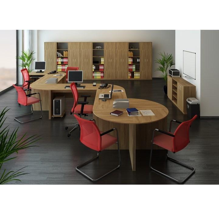 Písací stôl, bardolino tmavé, TEMPO ASISTENT NEW 021 PI, interiérová fotka